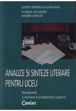 Analize si sinteze literare pentru liceu
