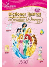 Dictionar ilustrat englez-roman cu printese Disney