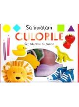 Sa invatam culorile. Set educativ cu puzzle.