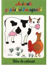 Animale si pasari din ograda: de colorat