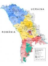 Harta Politico-Administrativa a Republicii Moldova Scara 1:275000