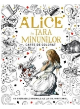 Alice in Tara Minunilor. Carte de colorat