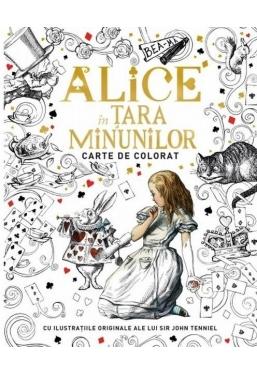 Alice in Tara Minunilor. Carte de colorat