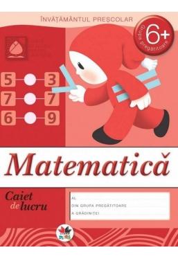 Caiet de lucru. Matematica grupa pregatitoare 6+