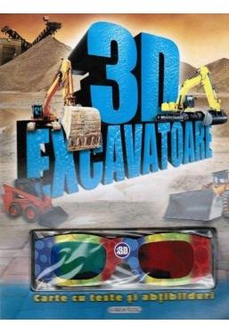 3D-Excavatoare: Carte cu teste si abtibilduri