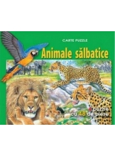 Animale salbatice. Carte puzzle