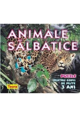 Animale salbatice — puzzle pentru copii de 3 ani