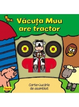 Vacuta Muu are tractor Carte+jucarie