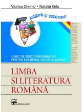 Limba romana Caiet de teste preparatorii BAC profil umanist