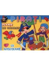 Planse de colorat cu autocolante. Pirati.