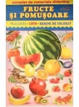 Fructe si pomusoare Placarda-Loto- Desene de colorat