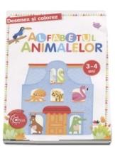 DESENEZ SI COLOREZ. Alfabetul animalelor. 3-4 ani