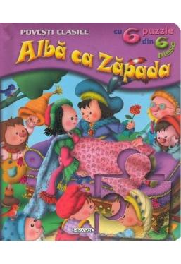 Alba ca Zapada cu 6 puzzle