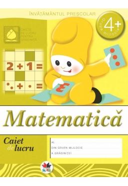 Caiet de lucru. Matematica grupa mijlocie 4+