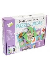 Invata despre animale. Puzzle urias
