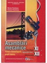 Asamblari mecanice. Manual clasa XI-XII