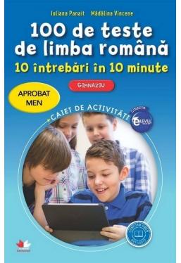 100 de teste de limba romana. 10 intrebari in 10 minute. Clasa a VI-a
