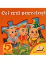 5 puzzle. Cei trei purcelusi