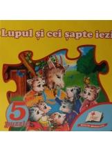 5 puzzle. Lupul si cei sapte iezi